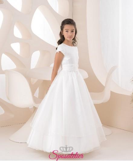 abiti prima comunione bambina 2018 Color avorio personalizzato vendita online
