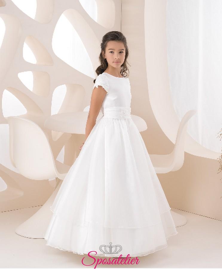 vasta selezione uk sporco economico in vendita abiti prima comunione bambina 2018 Color avorio personalizzato ...