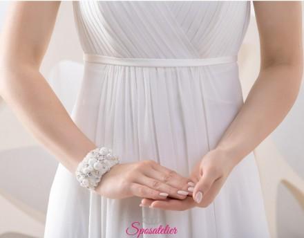 bracciale da sposa con perline e strass vendita online collezione 2019
