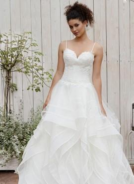 Orchidea-vestito da sposa 2019 con gonna a balze vaporosa vendita online