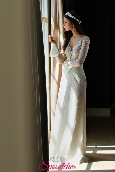 abiti da sposa con manica a sbuffo collezione 2019