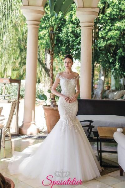 Gardenia-vestiti da sposa a sirena 2019 con ricami in pizzo economici online