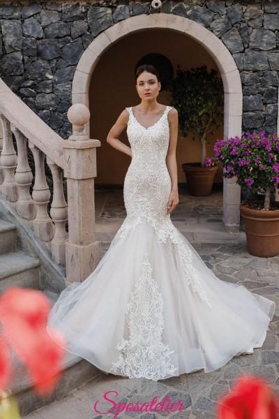 Sabina-abito da sposa a sirena 2019 in pizzo particolare