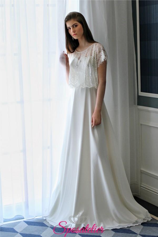 5fa56c451e2e abiti da sposa con mantellina di pizzo economici collezione 2019 online