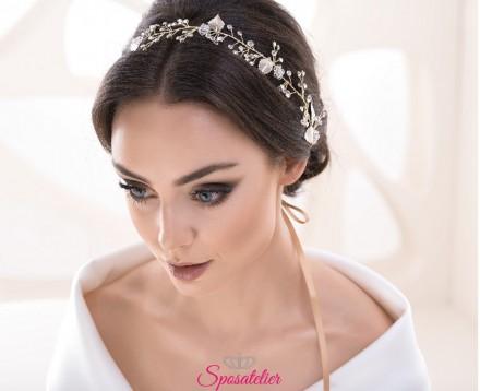 Fermaglio lungo per capelli da sposa stile rampicante con cristalli