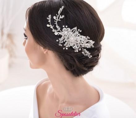 Fermaglio per capelli da sposa con punti luce  online