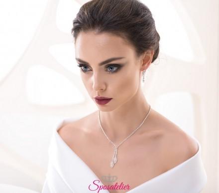 orecchini da sposa pendenti e collana collezione 2018 vendita online