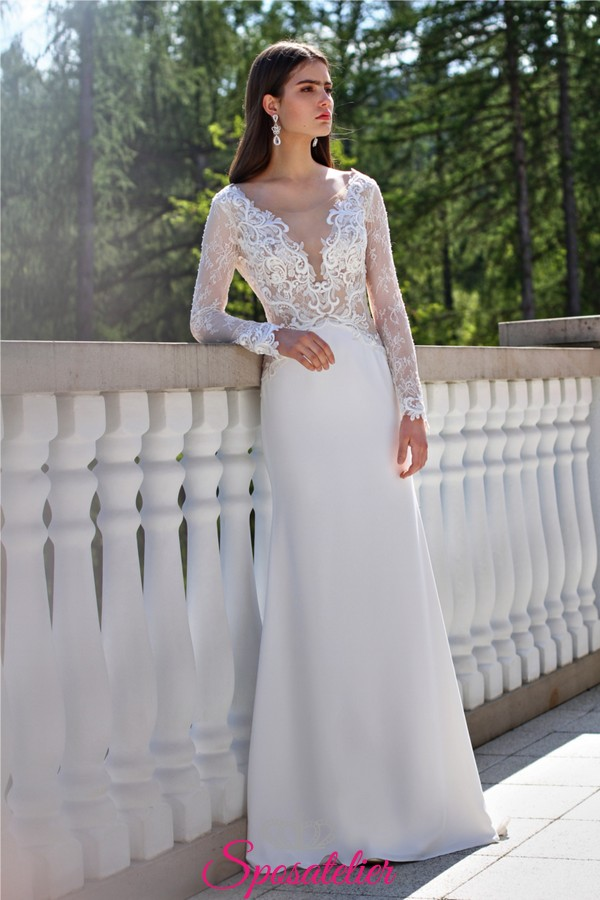 4b3c7a01fe8b abiti da sposa con maniche lunghe in pizzo 2019Sposatelier