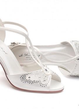 Scarpe sposa on line 2019 per abito principesco colore avorio altezza tacco 9 cm