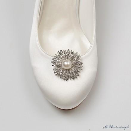 applicazioni per scarpe on line a forma di fiore con decorazioni di perle e strass