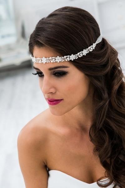 cerchietto sposa online decorato con punti luce e perline