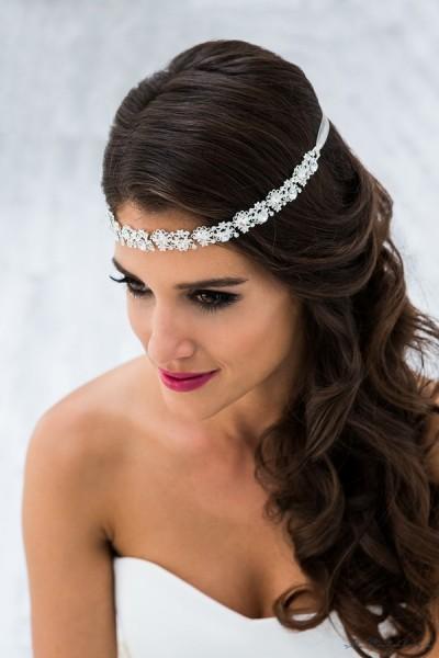 cerchietto sposa online di tendenza decorato con punti luce