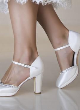 scarpe da sposa tacco largo on line 10 cm  collezione 2019