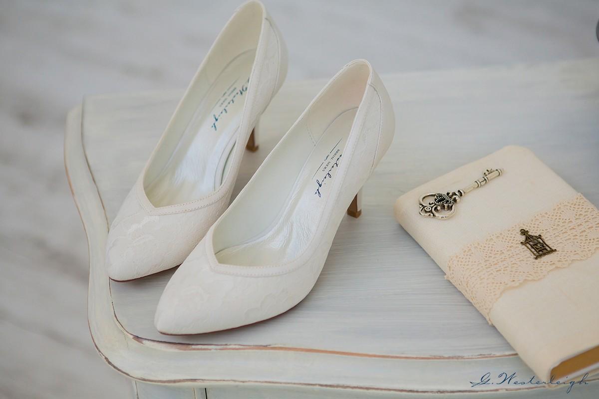 Vendita Scarpe Sposa Online.Scarpe Sposa Comode On Line In Pizzo Tacco Medio Collezione