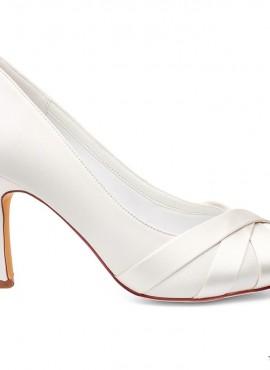 Scarpe sposa eleganti semplici con tacco medio collezione 2019