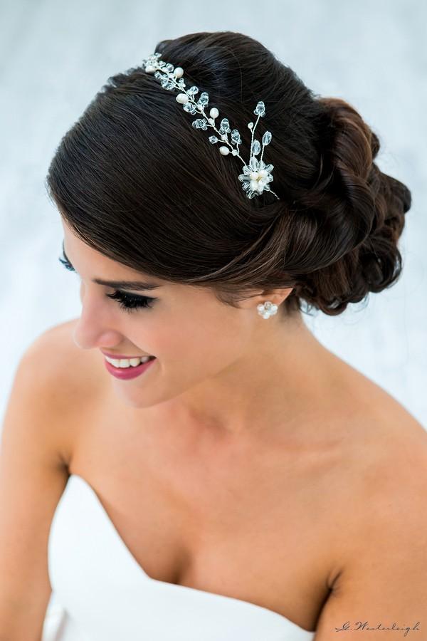 obtenir pas cher meilleures offres sur meilleure collection fermaglio per acconciatura sposa gioiello online decorato con punti luce