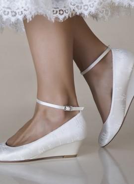 scarpe da sposa con zeppa tacco 5 nuova  collezione 2019