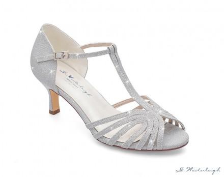 scarpe da cerimonia argento glitterato online tacco 6 cm