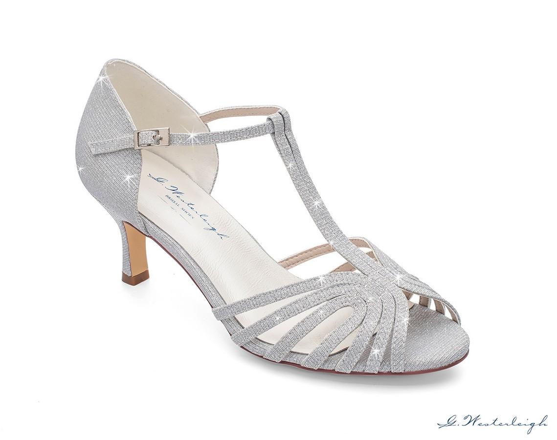 online retailer 56522 aa565 scarpe da cerimonia argento glitterato online tacco 6 cm