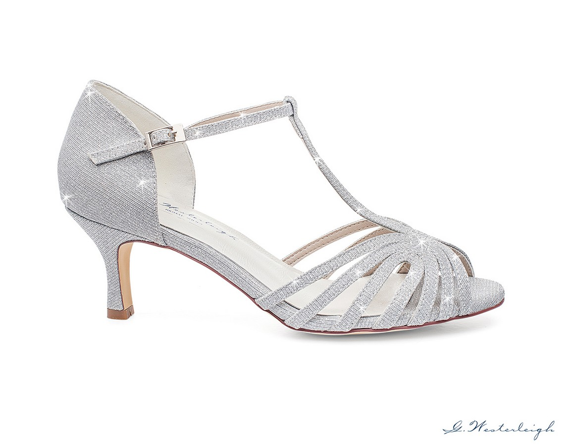 scarpe da cerimonia argento glitterato online tacco 6 cmSposatelier f6d773d3d0b
