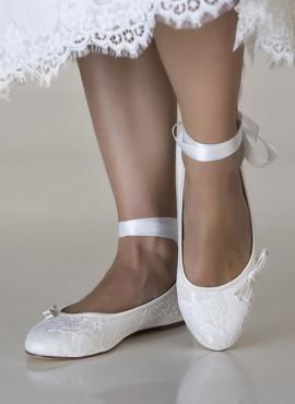 scarpe ballerine sposa on line in pizzo collezione 2019