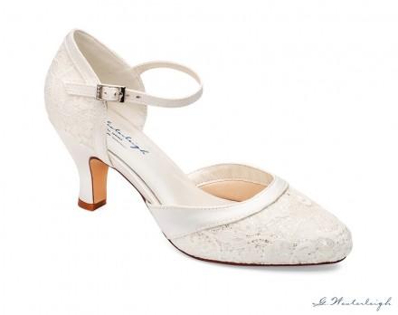 scarpe da sposa comode online con ricamo di pizzo
