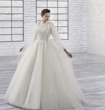 vestiti da sposa stile arabo vendita online in pizzo a collo alto