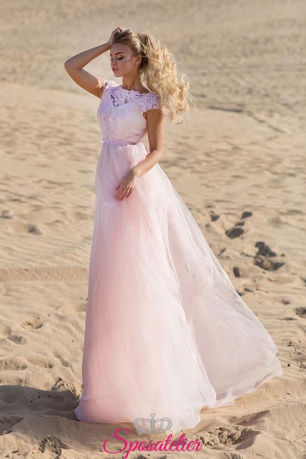 f37f69a08756 abito da sposa spiaggia colorato 2019 vendita online realizzati su misura