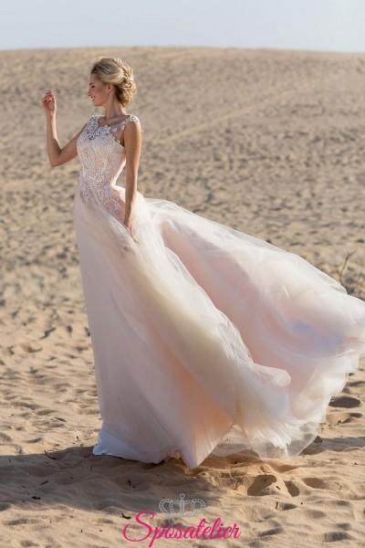 abito da sposa matrimonio in spiaggia 2019 realizzati su misura