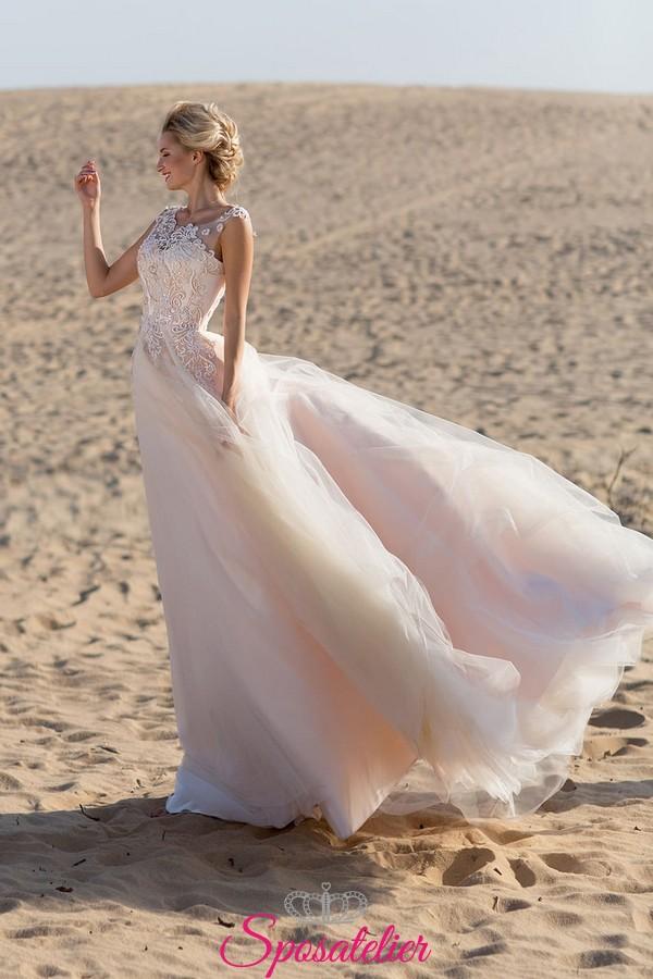 Abiti Da Sposa X Spiaggia.Abito Da Sposa Matrimonio In Spiaggia 2019 Realizzati Su