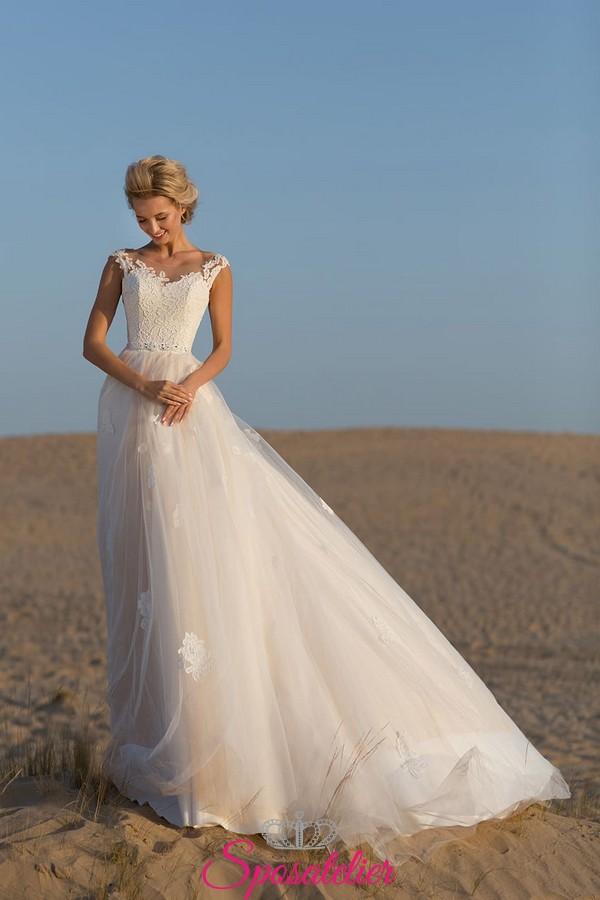 Abiti Da Sposa X Spiaggia.Abito Da Sposa Matrimonio In Spiaggia Morbido Di Tendenza