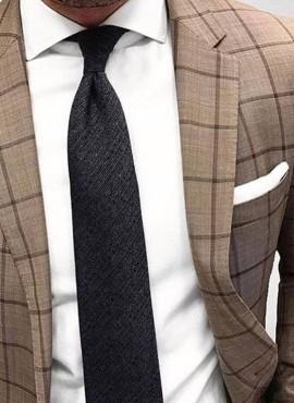 cravatta classica elegante nera