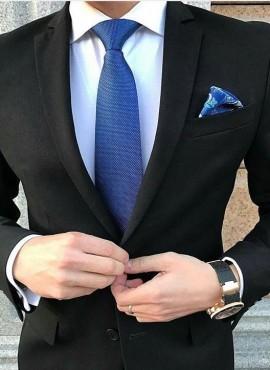 cravatta blu classica elegante