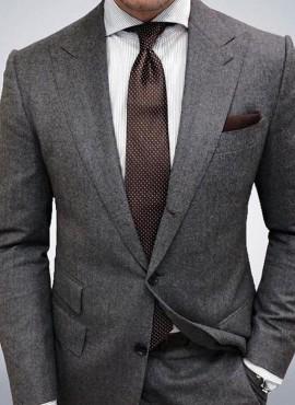 cravatta classica caffè a pois