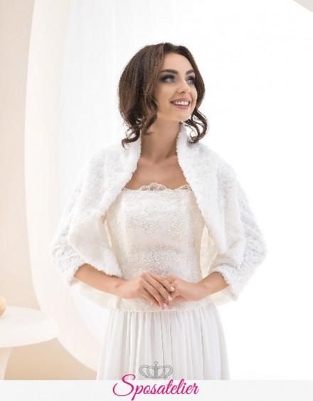 pelliccia ecologica sposa invernale vendita online collezione 2019
