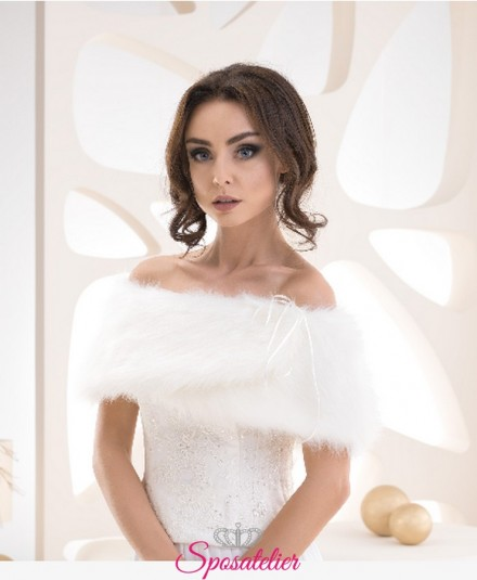 stola pelliccia sposa ecologica invernale vendita online