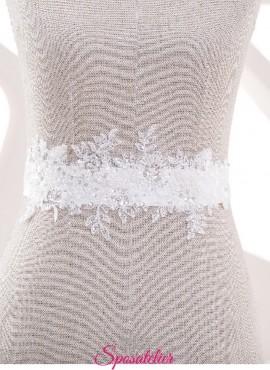 Cintura con applicazioni di pizzo per abiti da sposa 2019 nuova collezione online