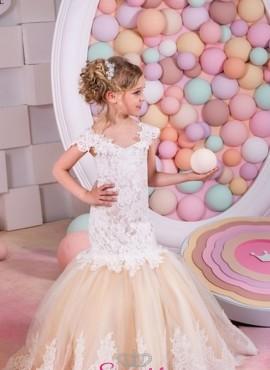 ISOTTA – abiti prima comunione bambina modello a sirena
