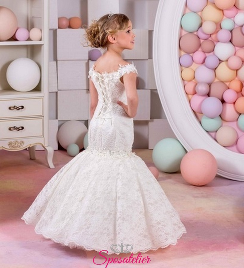 cf051c4bb742 vestito da comunione a sirena collezione 2019 vendita onlineSposatelier