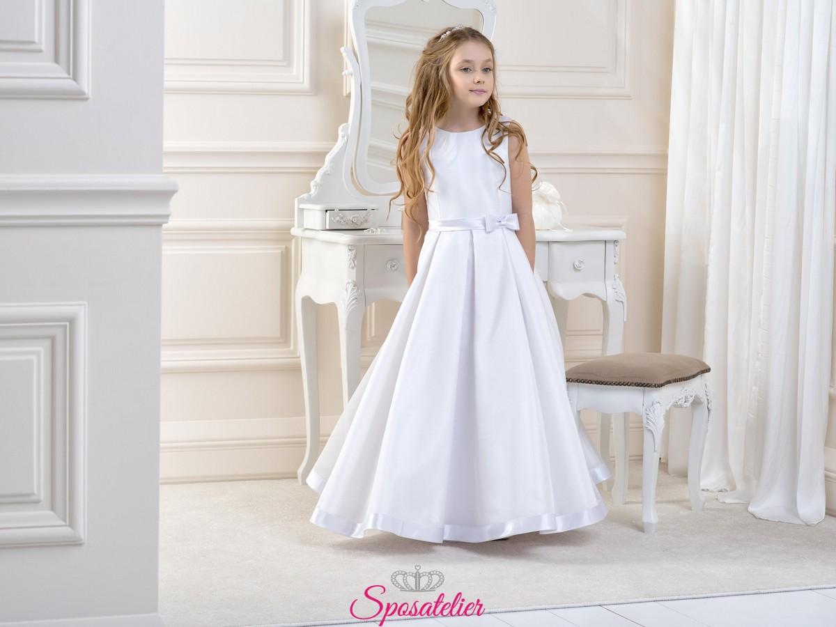 quantità limitata nuovi prodotti per scarpe da ginnastica abiti prima comunione bambina bianco o avorio collezione 2019