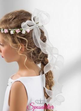 coroncina fiori colorati bambina prima comunione vendita online collezione 2019