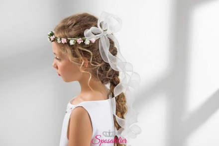 coroncina fiori colorati bambina prima comunione vendita online