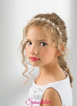 cerchietti per capelli bambina prima comunione vendita online collezione 2019