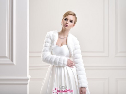 Pelliccia sposa per matrimonio autunno inverno 2019 vendita online