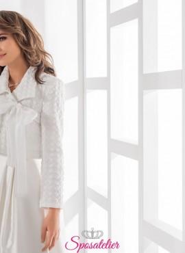 giacca sposa inverno con maniche lunghe vendita online collezione 2019