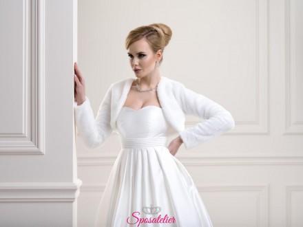 Pelliccia sposa matrimonio invernale collezione 2019 vendita online