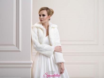 Pelliccia sposa elegante nuova collezione 2019 vendita online