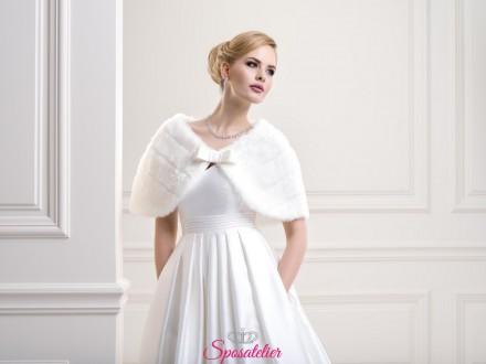 Coprispalle sposa di pelliccia collezione 2019 vendita online