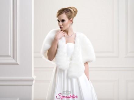 Pelliccia sposa color avorio elegante nuova collezione 2019 vendita online