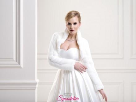 Pelliccia sposa con collo elegante nuova collezione